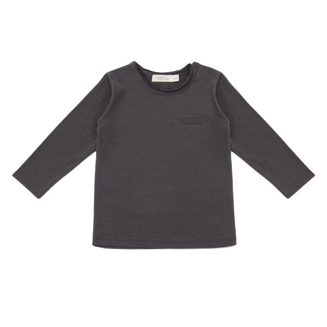Phil & Phae Blouse pocket tee graphite
