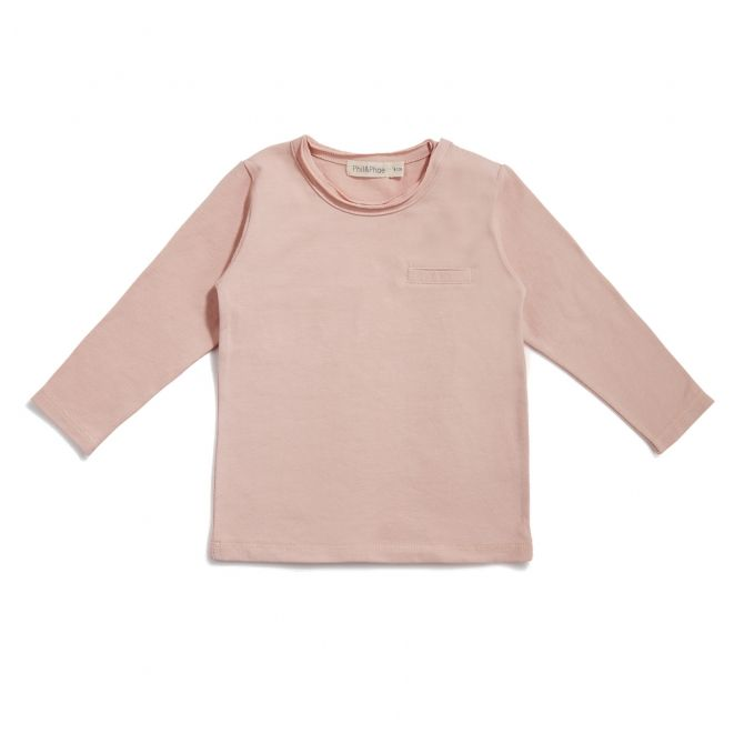 Phil & Phae Blouse pocket tee pink