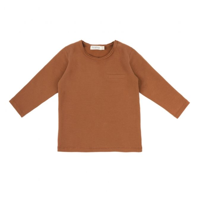Phil & Phae Blouse pocket tee brown
