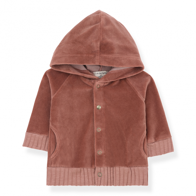 Hood jacket Volos brown - 1 + in the family