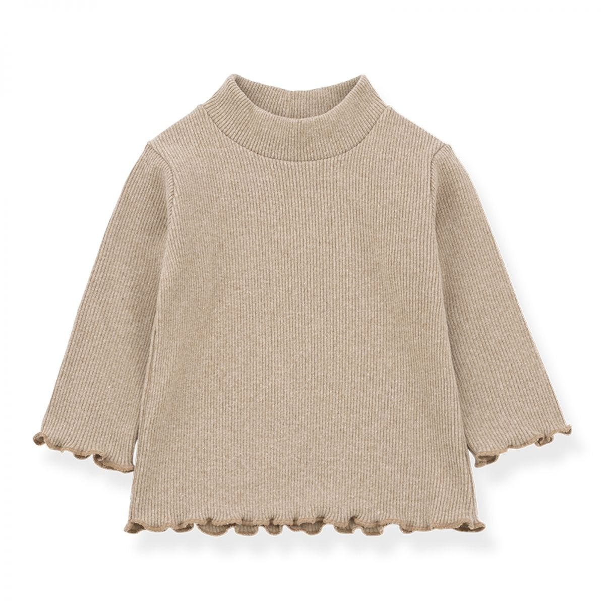 Nice turtleneck top beige - 1 + in the family