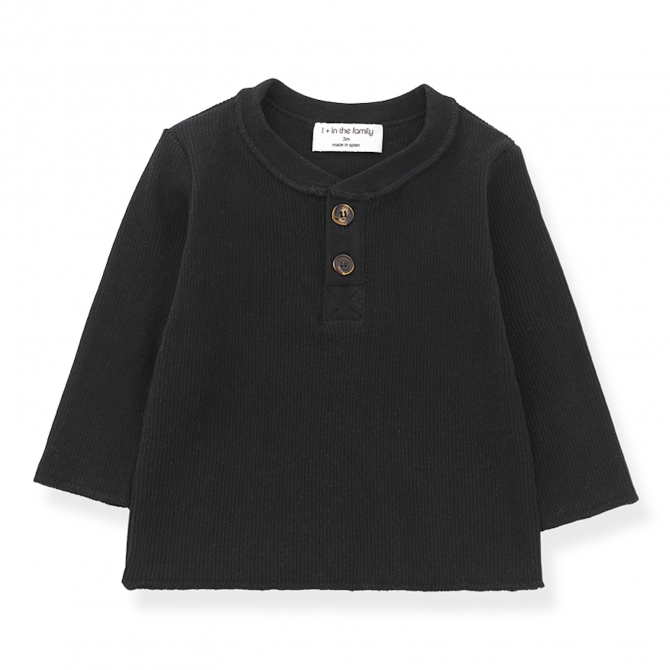 Albi long sleeve t-shirt black - 1 + in the family
