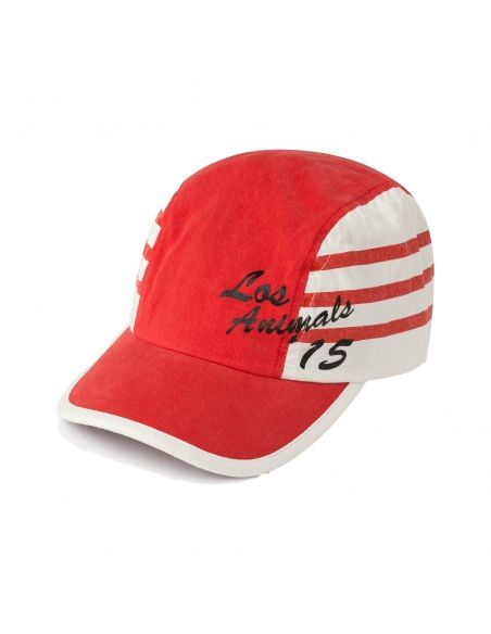 The Animals Observatory Hamster Cap Stripes Red