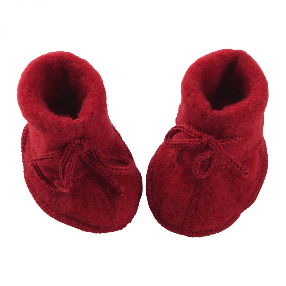 ENGEL Baby-bootees with ribbon red melange