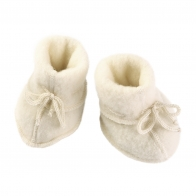 Baby-bootees  with ribbon natural