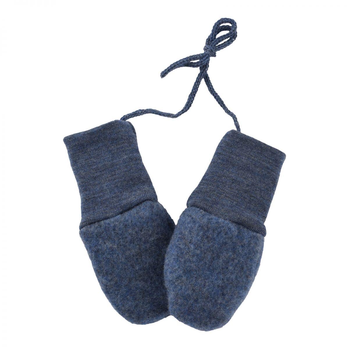 ENGEL Baby-mittens blue melange