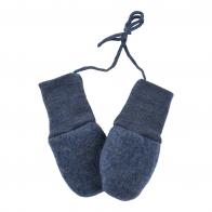 Baby-mittens blue melange