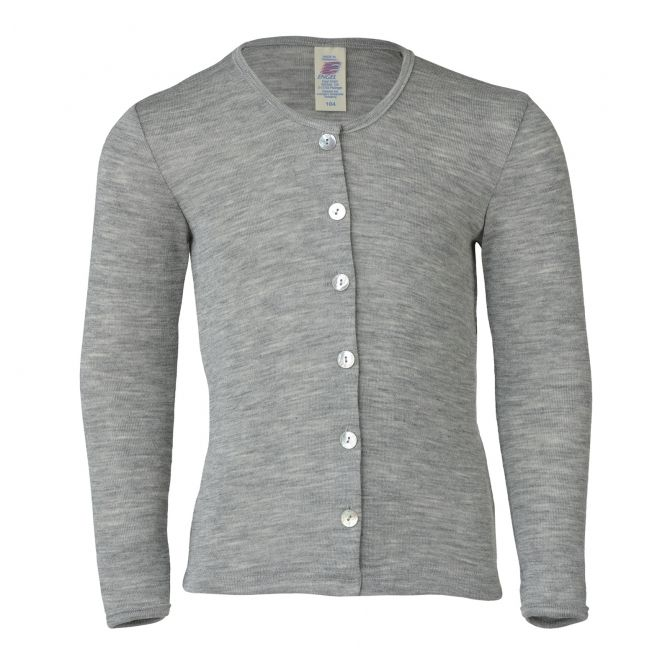 ENGEL Children's cardigan light grey melange