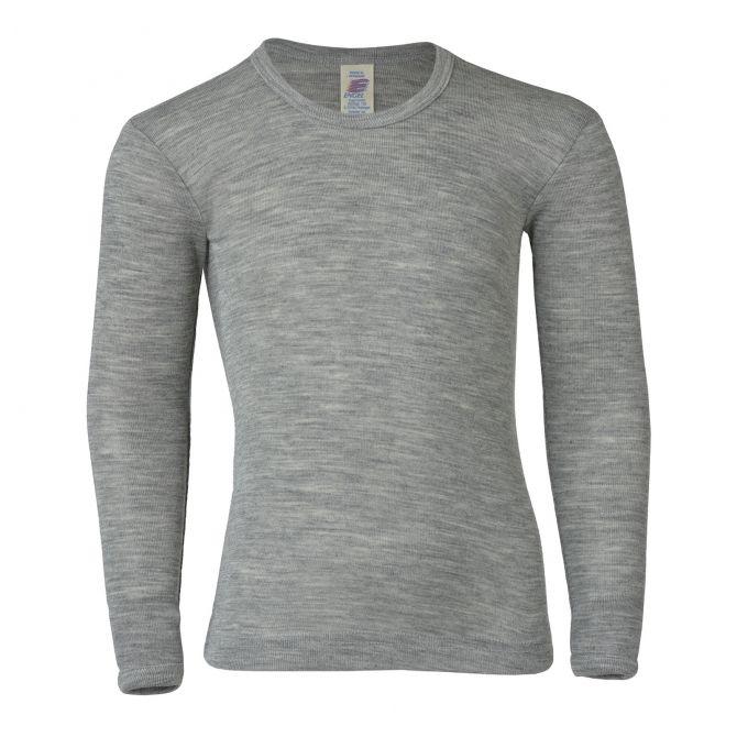 ENGEL Children's long sleeved shirt light grey melange