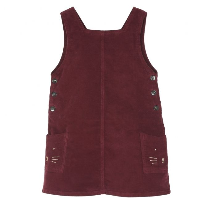 Emile et Ida Dress Velvet burgundy