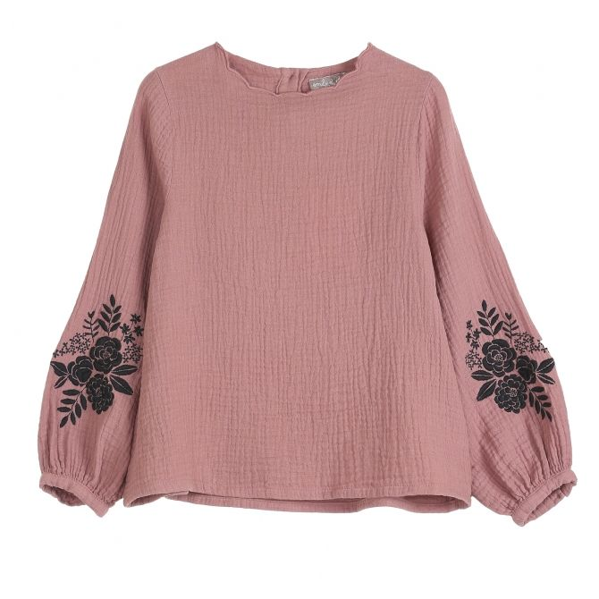 Blouse Embroidered Chataigne pink - Emile et Ida