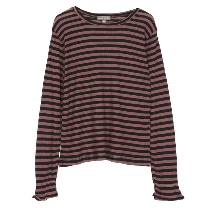 Emile et Ida Long sleeve t-shirt strippes multicolour