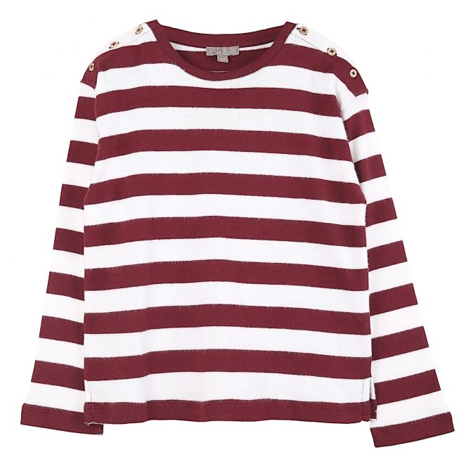 Emile et Ida Long sleeve t-shirt stripped burgundy