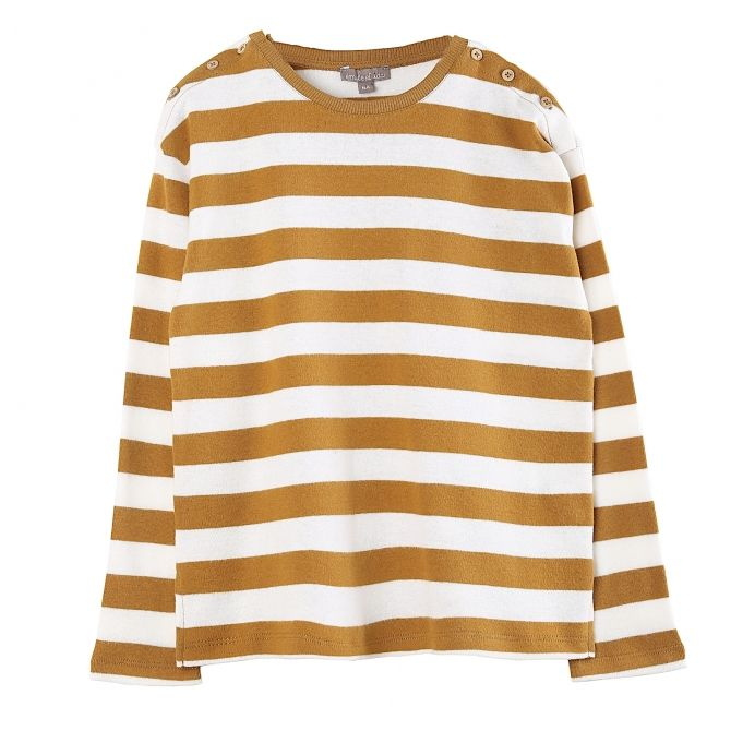 Emile et Ida Long sleeve t-shirt stripped mustard