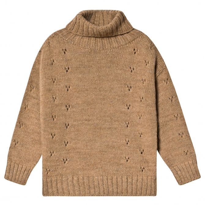 Sweter turtle-neck brązowy - Tocoto Vintage