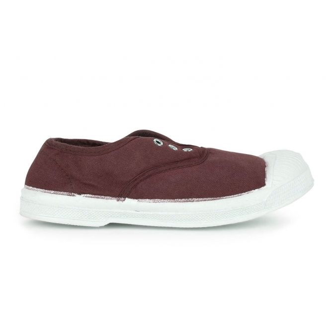 Trampki Kid Elly Sneakers bordowe - Bensimon