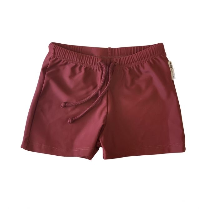 Maed for mini Bordeaux Badger swimshort brown