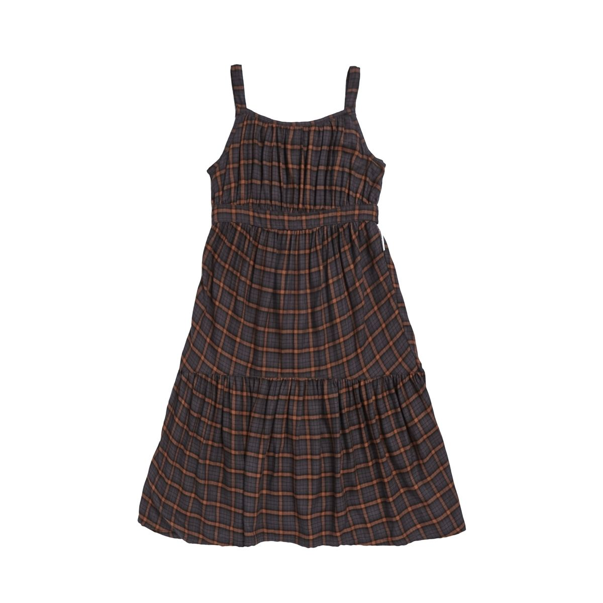 Squared Squirrel dress brown - Maed for mini