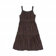 Squared Squirrel dress brown