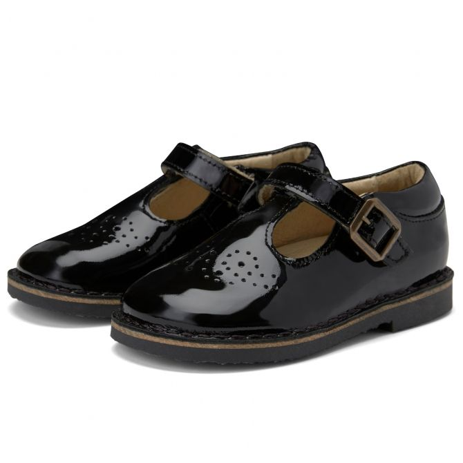 Young Soles T-bar Shoe Penny Patent Leather black