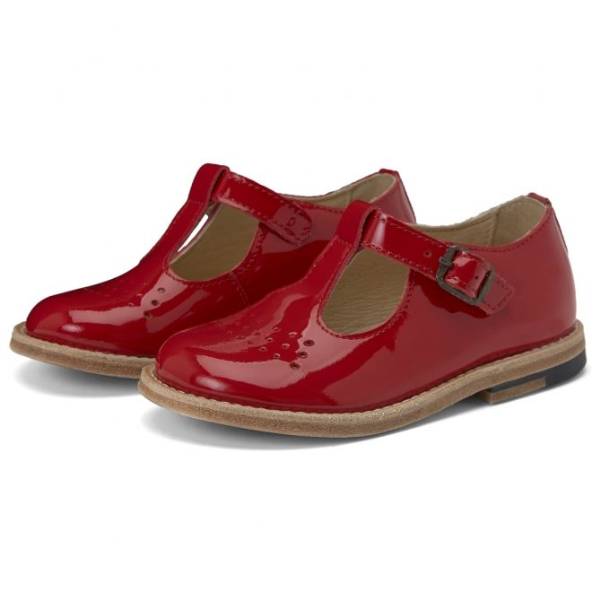 Young Soles T-bar Shoe Dottie Patent Leather london red