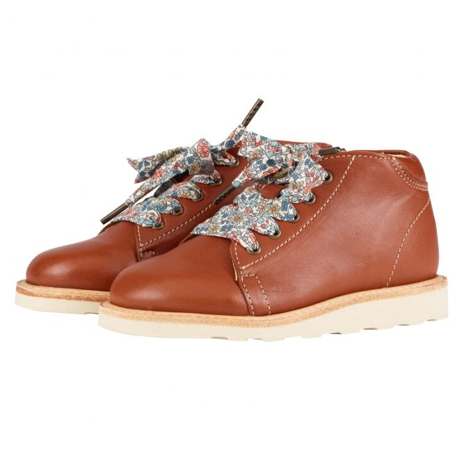 Hattie Monkey Boot with lace brown - Young Soles
