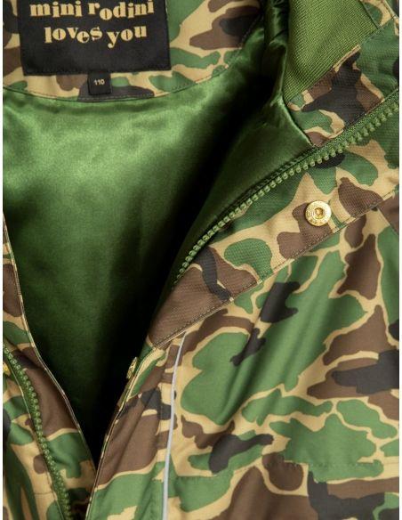Combinaison Kebnekaise Mini Rodini camo vert