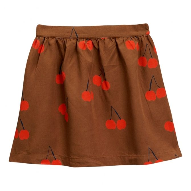 Cherry woven skirt brown - Mini Rodini
