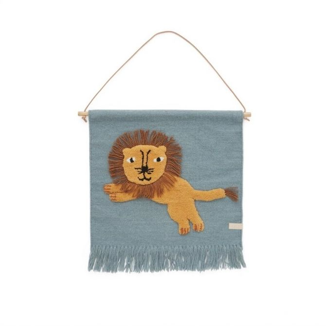 OYOY Jumping Lion Wallhanger