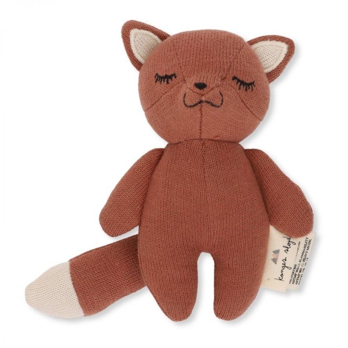 Konges Slojd Rattle Toy Mini Fox