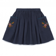 Skirt Ruche navy