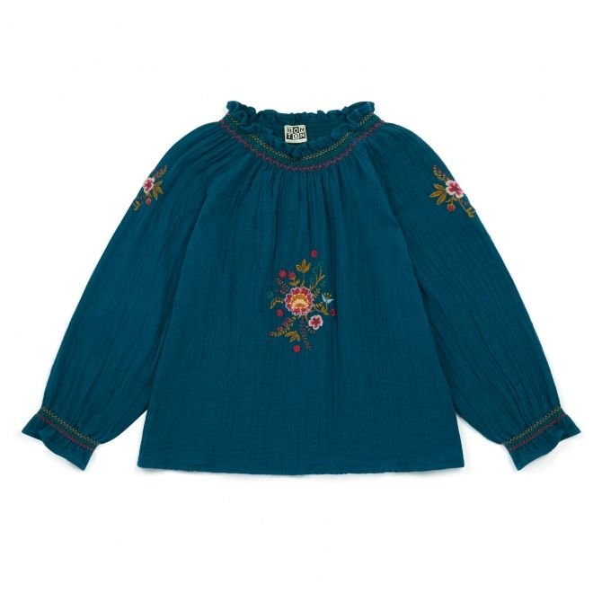 Bonton Blouse Stella navy blue