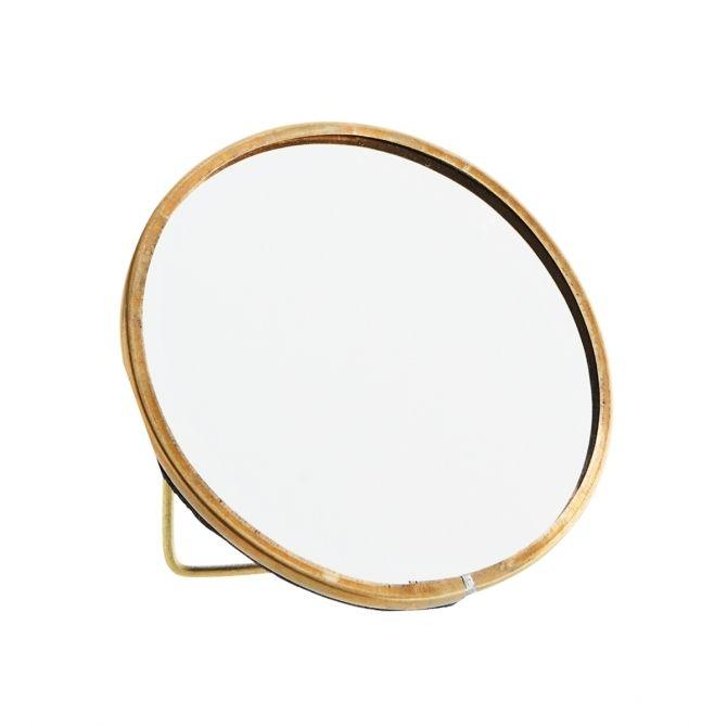 Round standing mirror 10 cm - Madam Stoltz