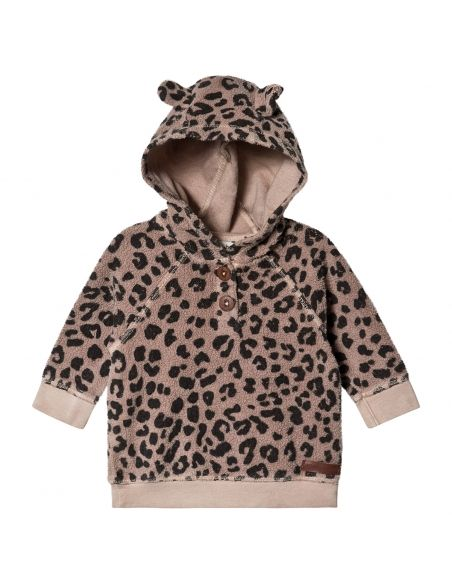 Tocoto Vintage Animal print hood brown