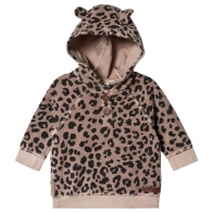 Animal print hood brown