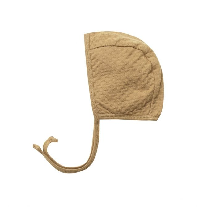 Quincy Mae Pointelle Baby Bonnet mustard