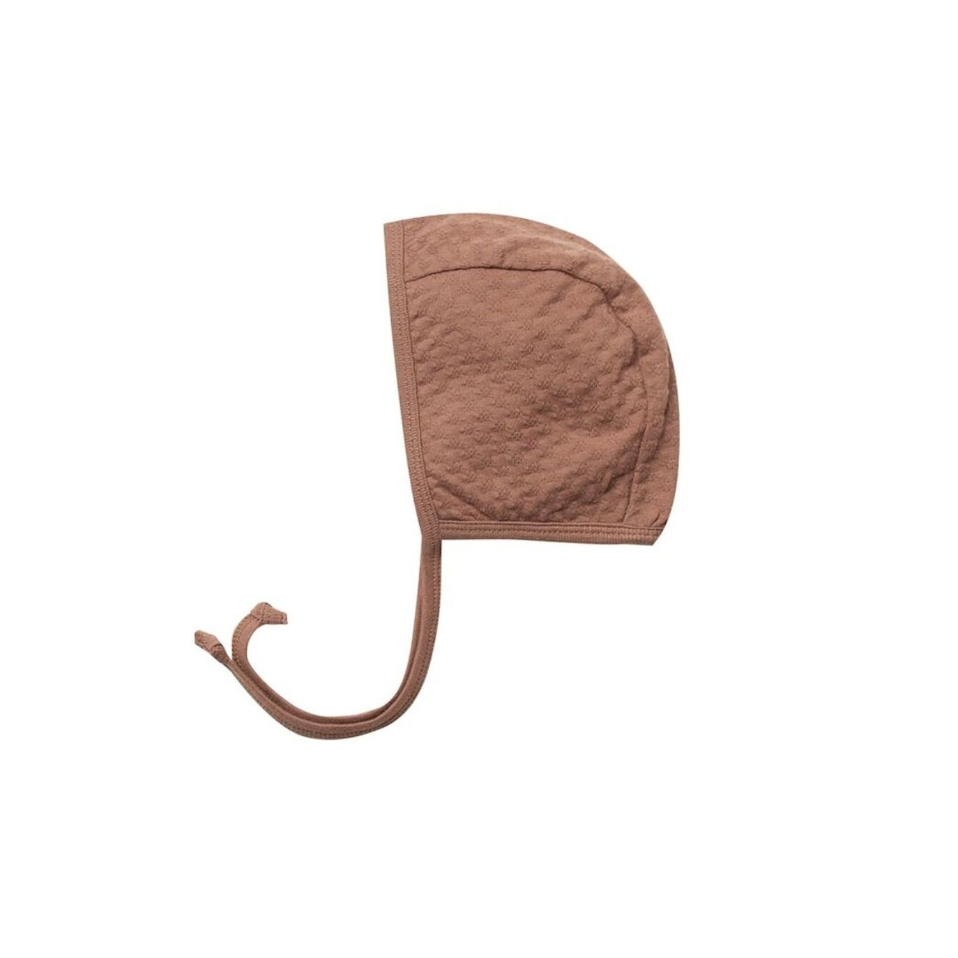 Quincy Mae Pointelle Baby Bonnet brown