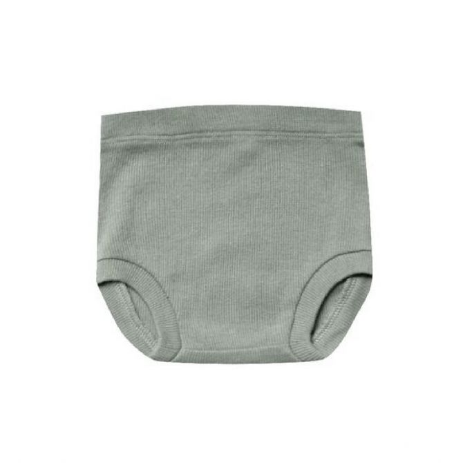 Quincy Mae Ribbed Bloomer green