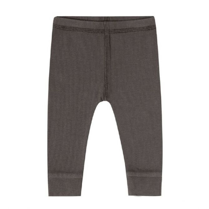Quincy Mae Ribbed Legging dark grey