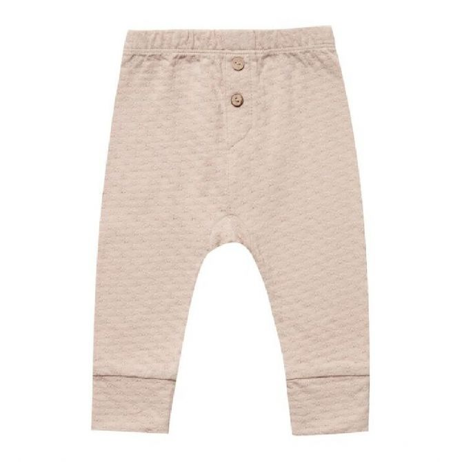 Quincy Mae Pointelle Pajama Pant pink