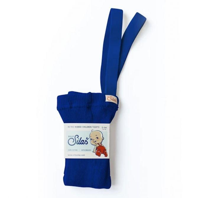 Silly SIlas Rajstopy z szelkami niebieskie