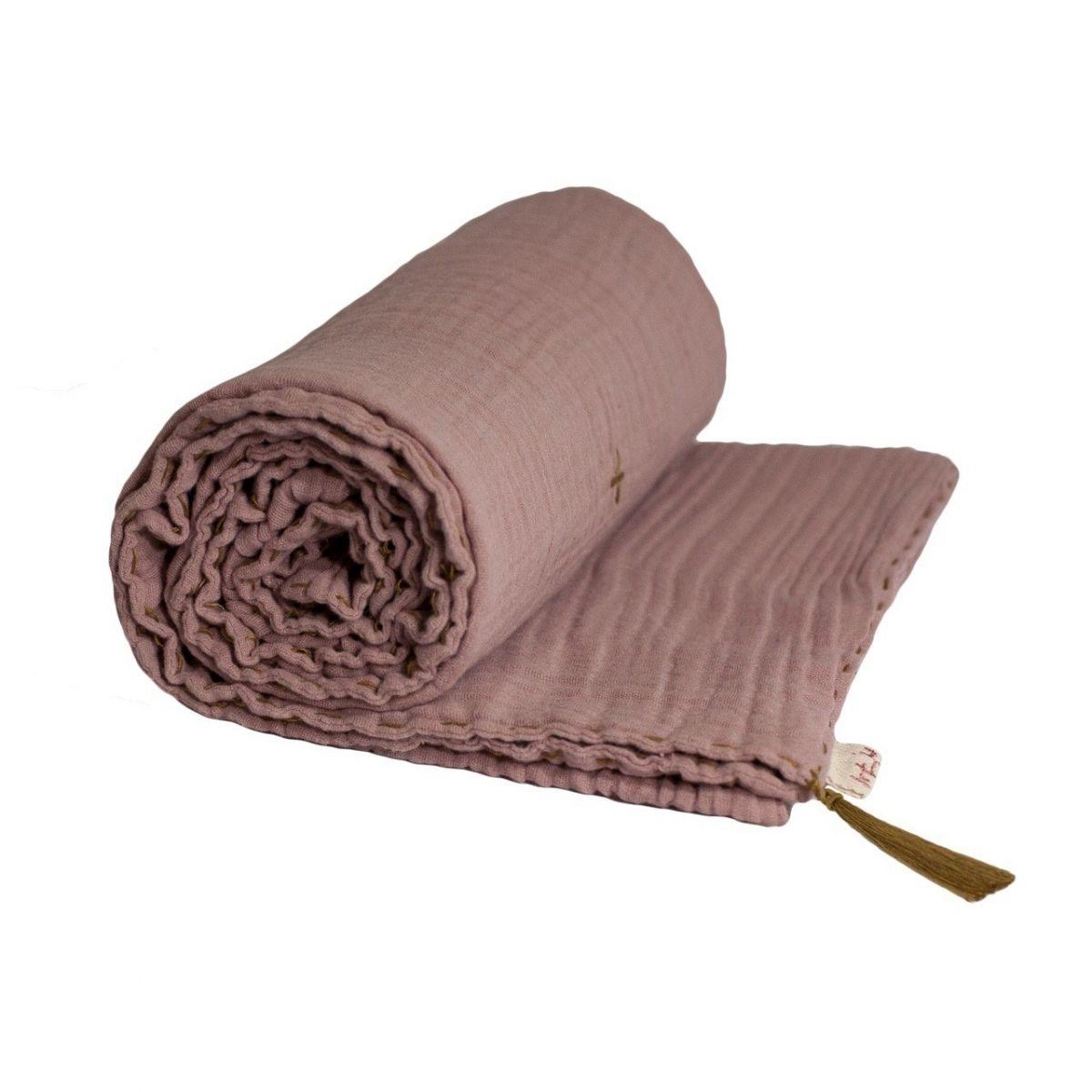 Koc Summer Blanket dusty pink zgaszony róż - Numero 74