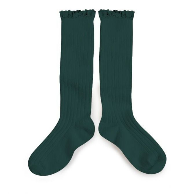 Collégien Knee socks Josephine fonds marins sea green