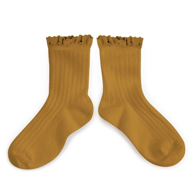 Collégien Socks Lili moutarde de dijon mustard