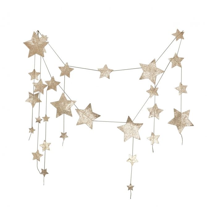 Numero 74 Garland Falling Star glitter gold