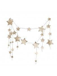 Girlanda Spadająca Gwiazda błyszcząca złota - Numero 74