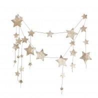 Garland Falling Star glitter gold