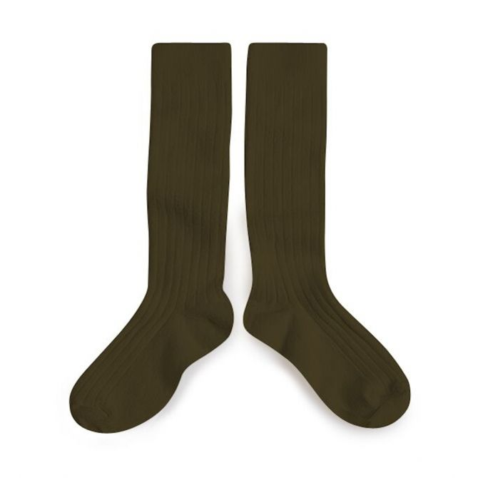 Collégien Knee socks La Haute cactus du mexique dark green