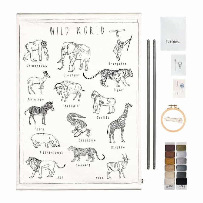 Numero 74 School poster Kit wild animals
