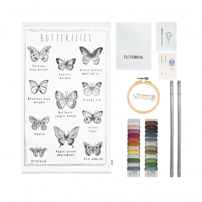 Numero 74 School Poster Kit Butterflies